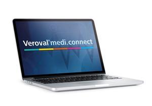 Aplikace Veroval medi.connect na notebooku