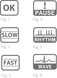 2021ba3c8 Přehledné ikony pro vyhodnocení naměřených hodnot z tlakoměru s EKG